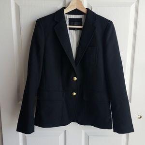 J Crew Black Italian Wool Rhodes Blazer Size 8